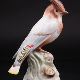 Статуэтка из фарфора птицы Свиристель, Herend, Венгрия.