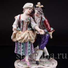 Уцененная статуэтка из фарфора Влюбленная пара, Dressel, Kister & Cie, Германия, 1907-20 гг.